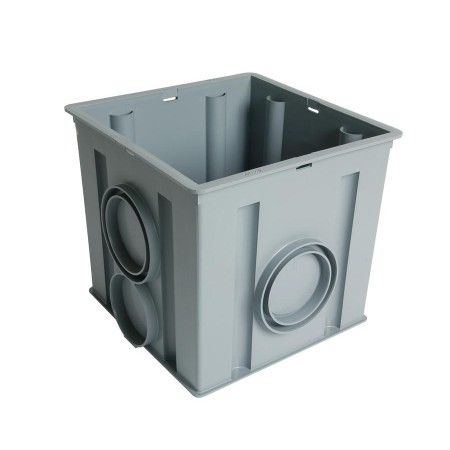 Колодец водосборный 30*30*30 без решетки для отвода дождевой воды, серый