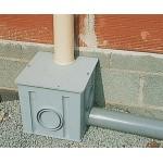 Колодец водосборный 25*25*25 без решетки для отвода дождевой воды, серый