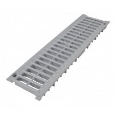Решетка для канала водосборного из ПВХ 136*500 серая,  для пешеходных зон