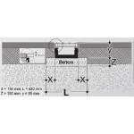 Канал водозбірний з поліамідною решіткою 80*136*1000, для узбіч і автостоянок