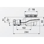 Сифон для душевого поддона TURBOFLOW2 со сливным отверстием D 90 мм