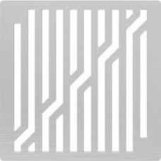 Решётка из нержавеющей стали для душевого трапа 100*100, дизайн Ломаные линии