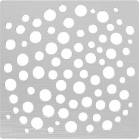 Решётка из нержавеющей стали для душевого трапа 100*100, дизайн Пузыри