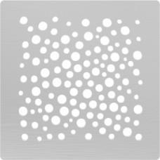 Решётка из нержавеющей стали для душевого трапа 150*150, дизайн Пузыри