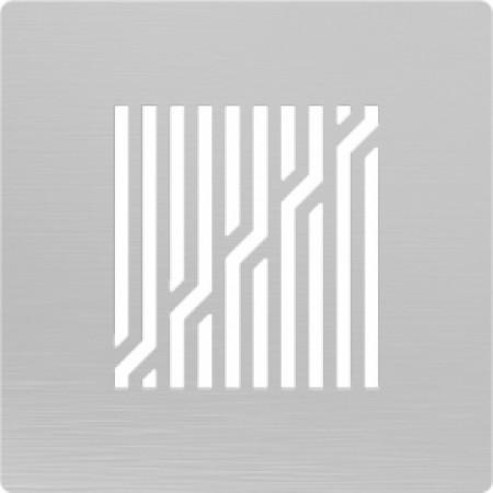 Решётка из нержавеющей стали для душевого трапа 150*150, дизайн Ломаные линии