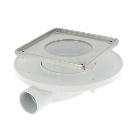 Душевой трап 150*150 без решетки с сухим сифоном для низких плиточных полов с технологией Magnetech
