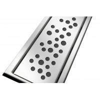Решётка из нержавеющей стали для душевого канала 70 см, дизайн Пузырьки