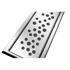 Решітка з нержавіючої сталі для душового каналу 70 см, дизайн Бульбашки