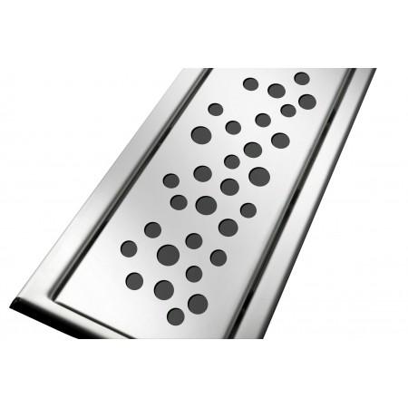 Решётка из нержавеющей стали для душевого канала 80 см, дизайн Пузырьки