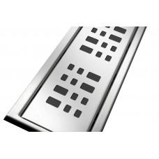Решітка з нержавіючої сталі для душового каналу 80 см, дизайн Плиточка
