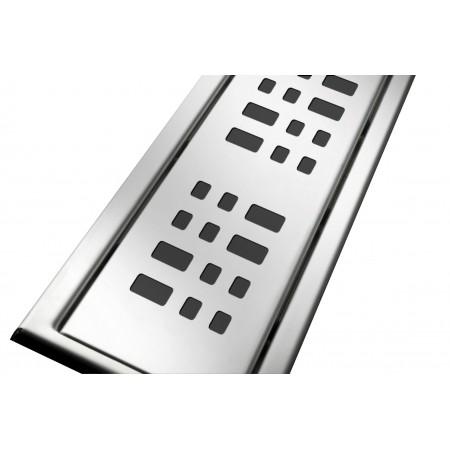 Решётка из нержавеющей стали для душевого канала 70 см, дизайн Плиточка