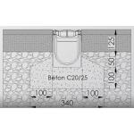 Канал водосборный 170*136*1000 с чугунной решеткой для сбора дождевой воды и стока