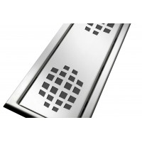 Решётка из нержавеющей стали для душевого канала 70 см, дизайн Шары