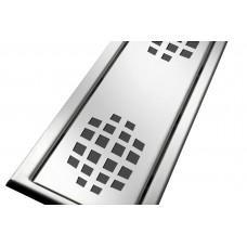 Решітка з нержавіючої сталі для душового каналу 80 см, дизайн Кола