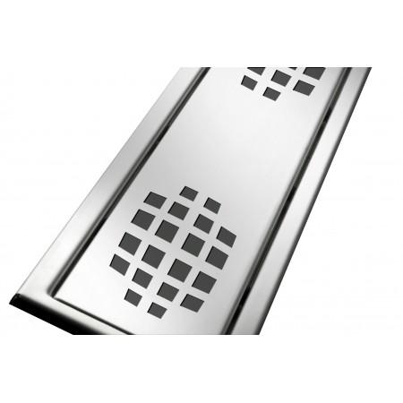 Решётка из нержавеющей стали для душевого канала 80 см, дизайн Шары