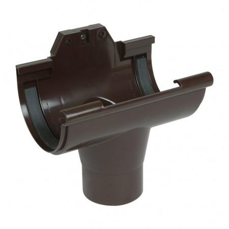 Воронка желоба на полиуретановых уплотнителях Classic 25 коричневая D80