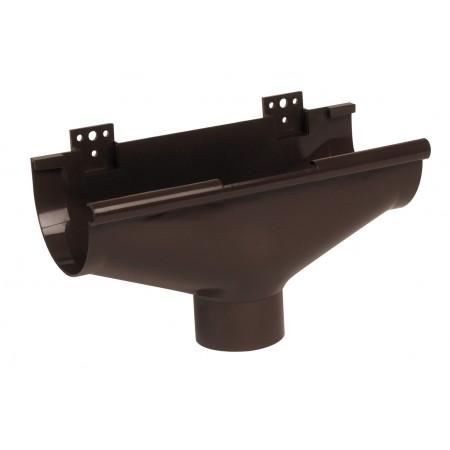 Воронка желоба компенсирующая температурное расширение Classic 25 коричневая D80
