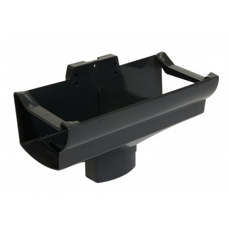 Воронка желоба компенсирующая температурное расширение Super Ovation темно-серая D90*56