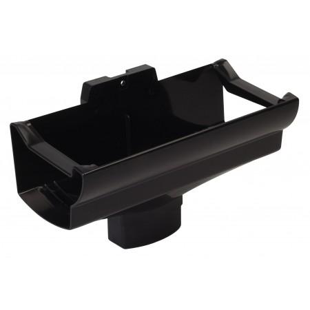 Воронка желоба компенсирующая температурное расширение Super Ovation черная D90*56