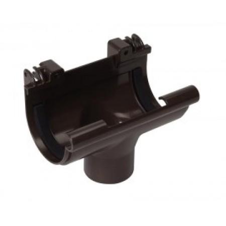 Воронка желоба на полеуретановых уплотнителях Classic 16 коричневая D50