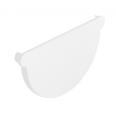 Заглушка желоба универсальная Classic 25 полукруглая белая 115мм