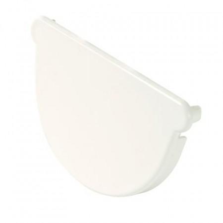 Заглушка желоба универсальная Classic 16 полукруглая белая 70мм