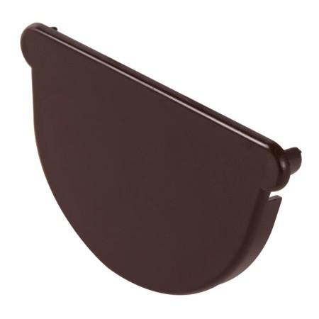 Заглушка желоба универсальная Classic 16 полукруглая коричневая 70мм