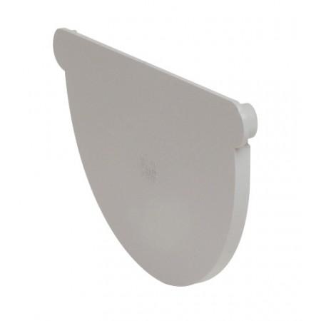 Заглушка желоба универсальная Classic 33 полукруглая светло-серый 170мм