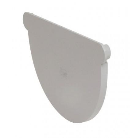 Заглушка желоба универсальная Classic 33 полукруглая белая 170мм