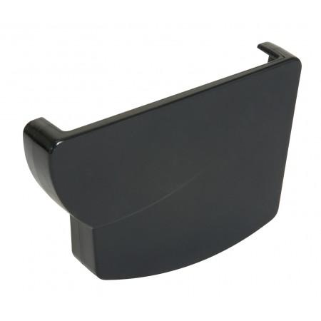 Заглушка желоба правая Ovation® 28 прямоугольная темно-серая 125мм