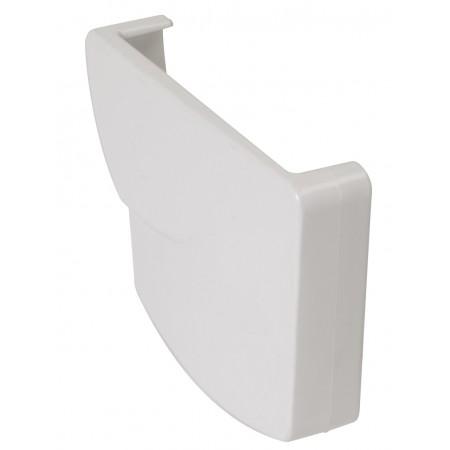 Заглушка желоба правая Ovation® 28 прямоугольная белая 125мм