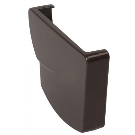 Заглушка желоба правая Ovation® 28 прямоугольная коричневая 125мм