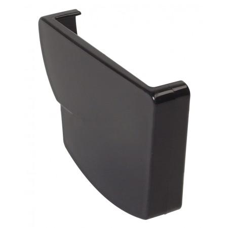 Заглушка желоба правая Ovation® 28 прямоугольная черная 125мм