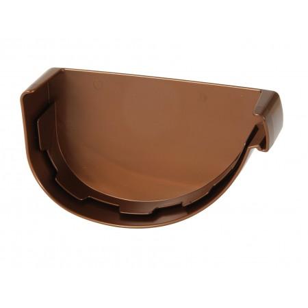 Заглушка желоба правая Vodalis® 29 каплевидная медная 140мм