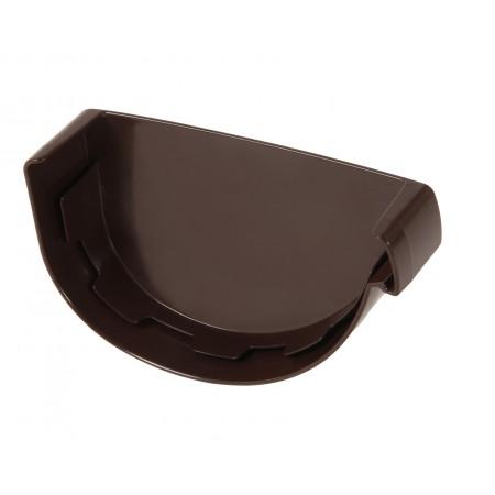 Заглушка желоба правая Vodalis® 29 каплевидная коричневая 140мм