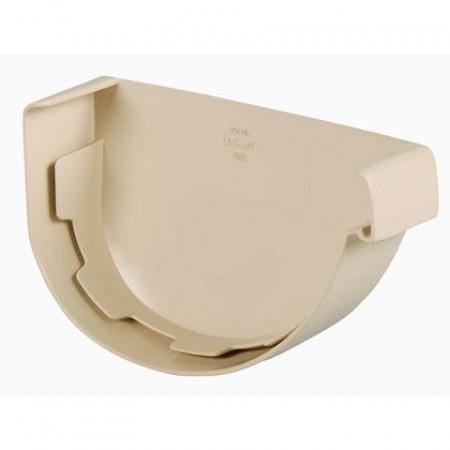 Заглушка желоба правая Vodalis® 29 каплевидная бежевая 140мм