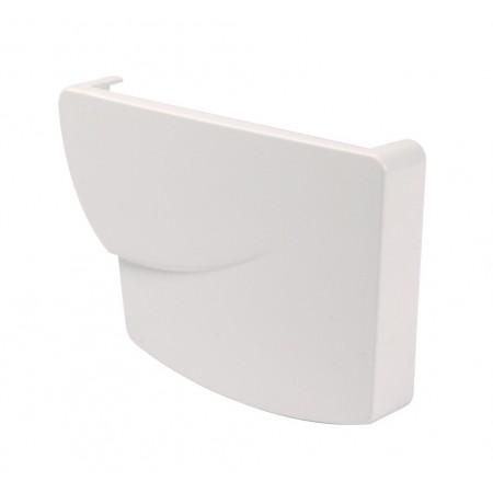 Заглушка ринви права Super Ovation® 38 прямокутна біла 170мм