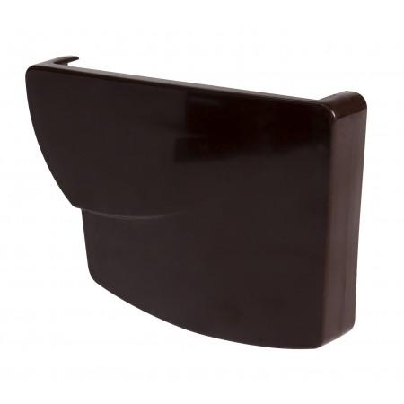 Заглушка желоба правая Super Ovation® 38 прямоугольная коричневая 170мм