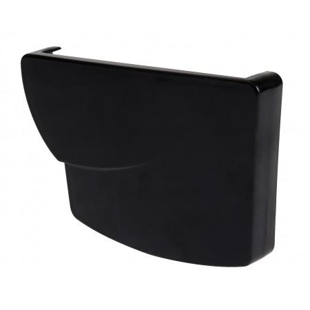 Заглушка желоба правая Super Ovation® 38 прямоугольная черная 170мм