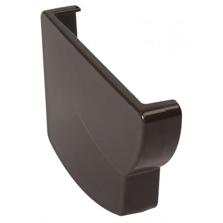 Заглушка желоба левая Ovation® 28 прямоугольная коричневая 125мм