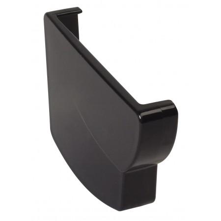 Заглушка желоба левая Ovation® 28 прямоугольная черная 125мм