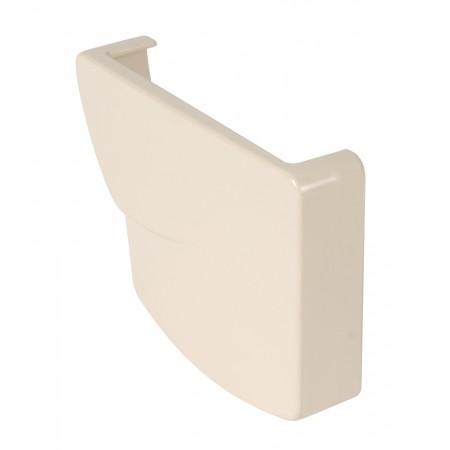 Заглушка желоба левая Ovation® 28 прямоугольная бежевая 125мм