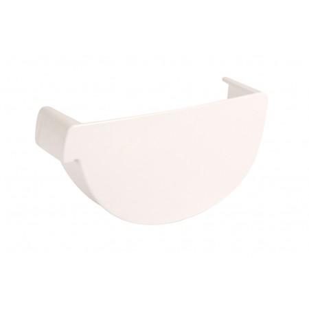Заглушка желоба левая Vodalis® 29 каплевидная белая 140мм