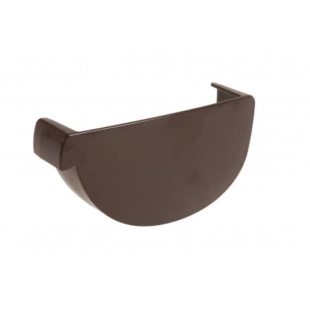 Заглушка желоба левая Vodalis® 29 каплевидная коричневая 140мм