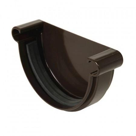 Заглушка желоба универсальная на уплотнителях Classic 25 полукруглая коричневая 115мм