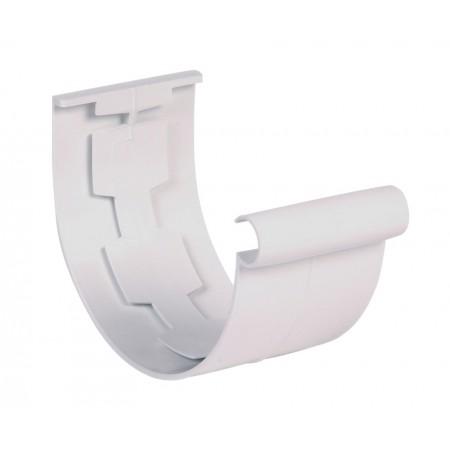 Соединитель желоба на полиуретановых уплотнителях Classic 25 белый D80