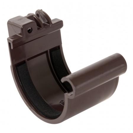 Соединитель желоба на полиуретановых уплотнителях Classic 16 коричневый D50