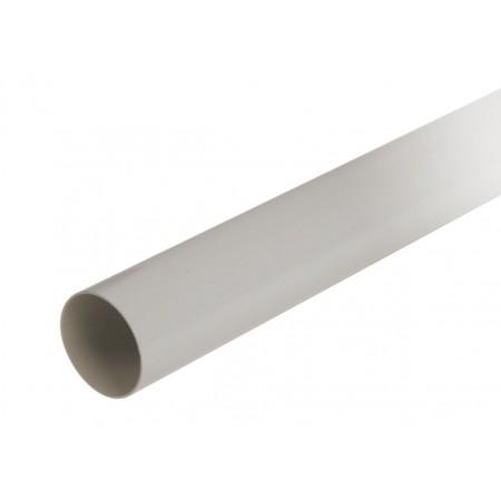Труба водосточная круглая с муфтой светло-серая D100, 4м