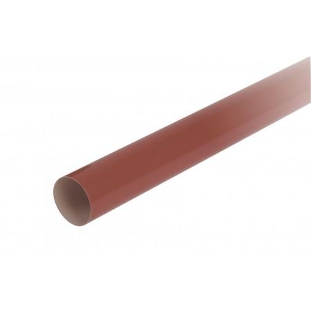 Труба водосточная круглая с муфтой красная D80, 4м