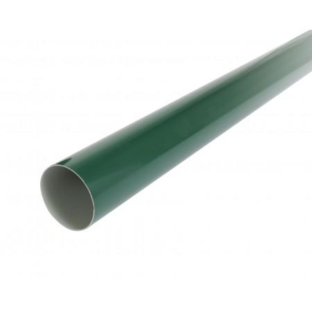 Труба водосточная круглая с муфтой зеленая D80, 4м